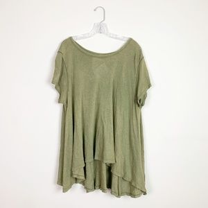 Free People | olive green flowy t-shirt size XS/S